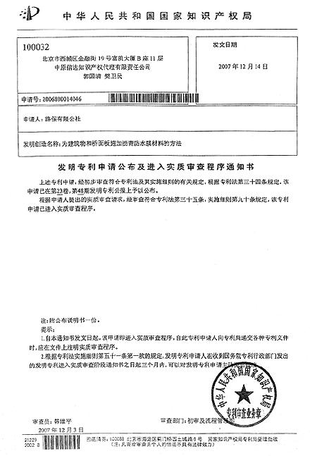 국제특허획득(중국)